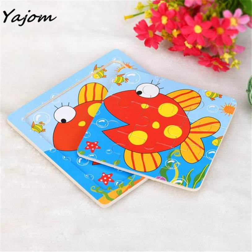 Puzzle toys Childrens hand grasping puzzle board cartoon wood three-dimensional puzzle toy Brand New High Quality May 19