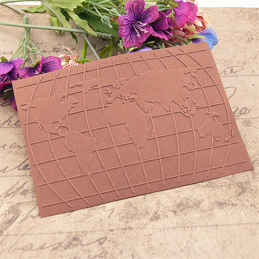 Easter plastic world map template craft card making paper card album wedding decoration scraping Embossing folders(China)