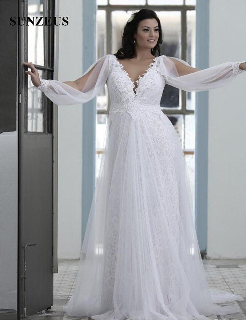 Купить кружевные свадебные платья больших размеров а силуэта с v образным