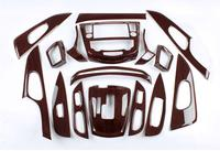 Mahogany JIOYNG Pierścieni Wykończenia Wnętrza Klimatyzacja Vent Pokrywa Dla NISSAN Rogue X TRAIL XTRAIL 2014 2015 2016/2017 2018 w Chromowane wykończenia od Samochody i motocykle na
