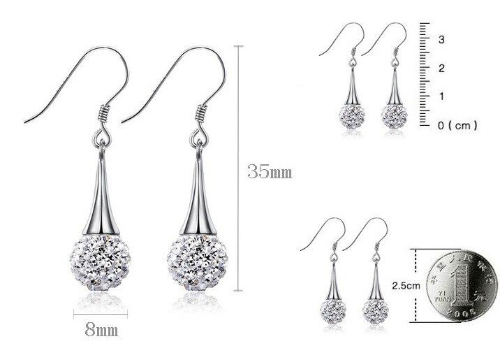 2016 new arrival hot sell fashion Shambhala 925 sterling silver ladies drop earrings jewelry gift wholesale women in Drop Earrings from Jewelry Accessories