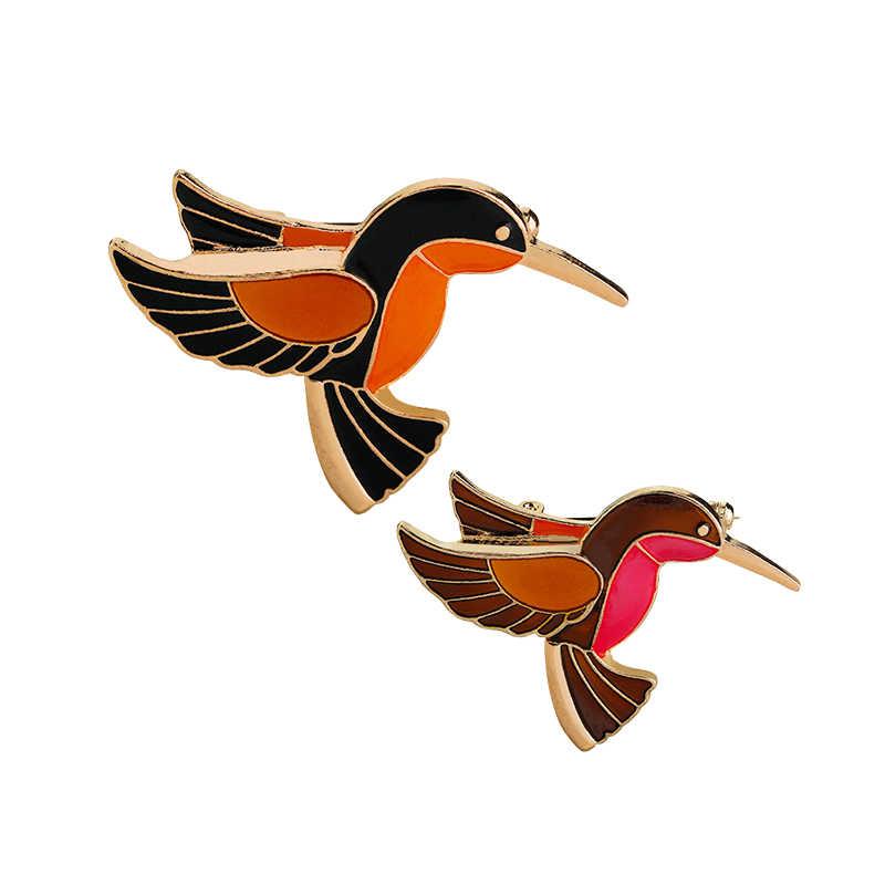 Kualitas Tinggi Kreatif Terbang Burung Bros Wanita Kerah Pin Topi Tas Lencana Jaket Pria Denim Pin dari China perhiasan Enamel