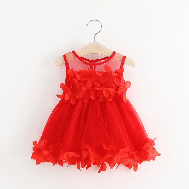 8db7ba5be6c US $9.52 25% OFF|girls dress 2019 summer new baby clothes petal stitching  mesh children's dress 12M 18M 24M 3 years children clothing-in Dresses from  ...