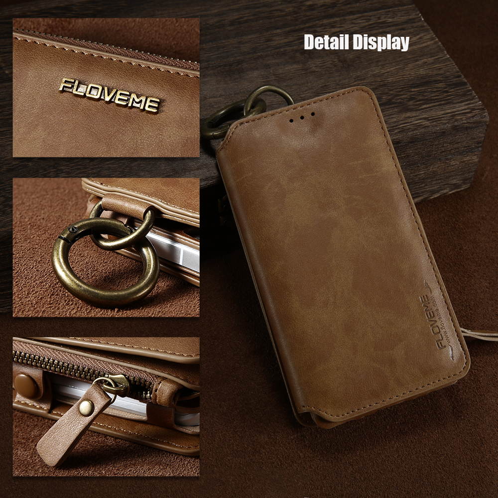 Leather Wallet and Card Phone Bag Case 3