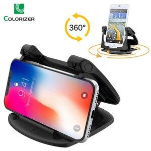Image 1 - Soporte para tablero de automóvil para teléfono, soporte de Gel adhesivo antideslizante giratorio 360, soporte de montaje lavable para automóvil para iPhone XS Max Samsung S10 Note9 GPS