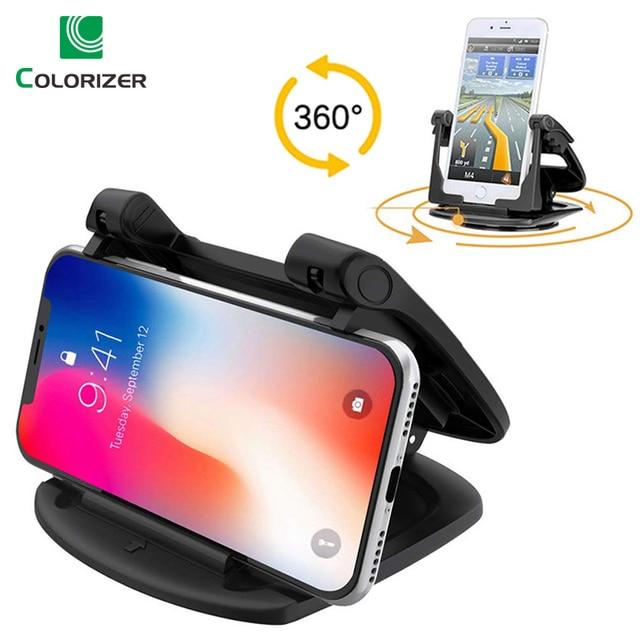 Soporte para tablero de automóvil para teléfono, soporte de Gel adhesivo antideslizante giratorio 360, soporte de montaje lavable para automóvil para iPhone XS Max Samsung S10 Note9 GPS