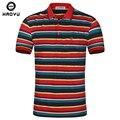 Men Classic camisa Polo a rayas de algodón de manga corta para camiseta Polo Homme Marque Vetement Homme marca llegó el nuevo 2016 verano