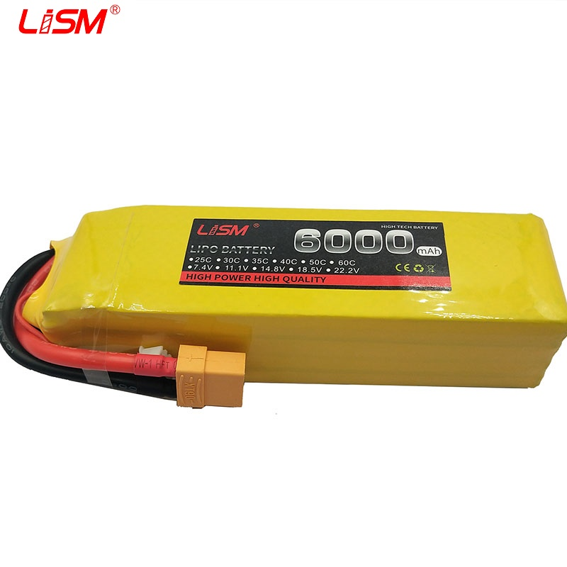 <font><b>Lipo</b></font> Battery <font><b>5S</b></font> 18.5V <font><b>6000mAh</b></font> 30C For RC Drone Aircraft Helicopter Car Quadcopter Airplane Remote Control Toys Lithium #20B16 image