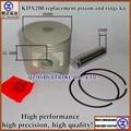 Envío libre nuevo y de buena calidad para KAWASAKI KDX200 reemplazo kit de pistón y anillos