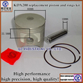 Free shipping new and good quality for KAWASAKI KDX200 replacement piston and rings kit