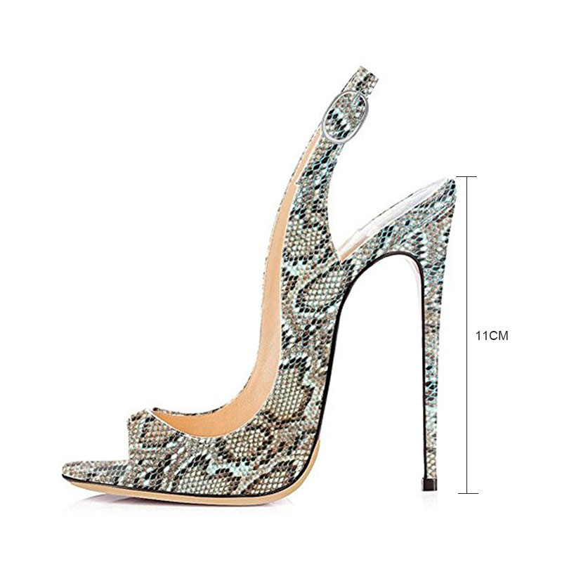 1293636907b72 Fanyuan Women Sandals High Heels Gladiator Ultra 11CM Slingback Sandals  Summer Shoes Women Sexy Peep Toe espadrille Plus Size 43