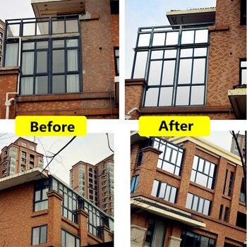 One-way Mirror SUNICE 0.7x30m Home Tinting Window Sticker Film Double Silver Heat Insulation Solar Film Privacy House Decor