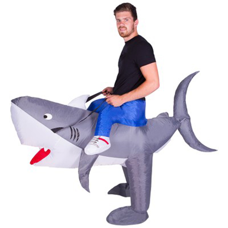 Requin Costumes gonflables pour adulte monter sur cheval jouet Cosplay Costumes Animal fantaisie robe Halloween carnaval fête airsoufflé tenue