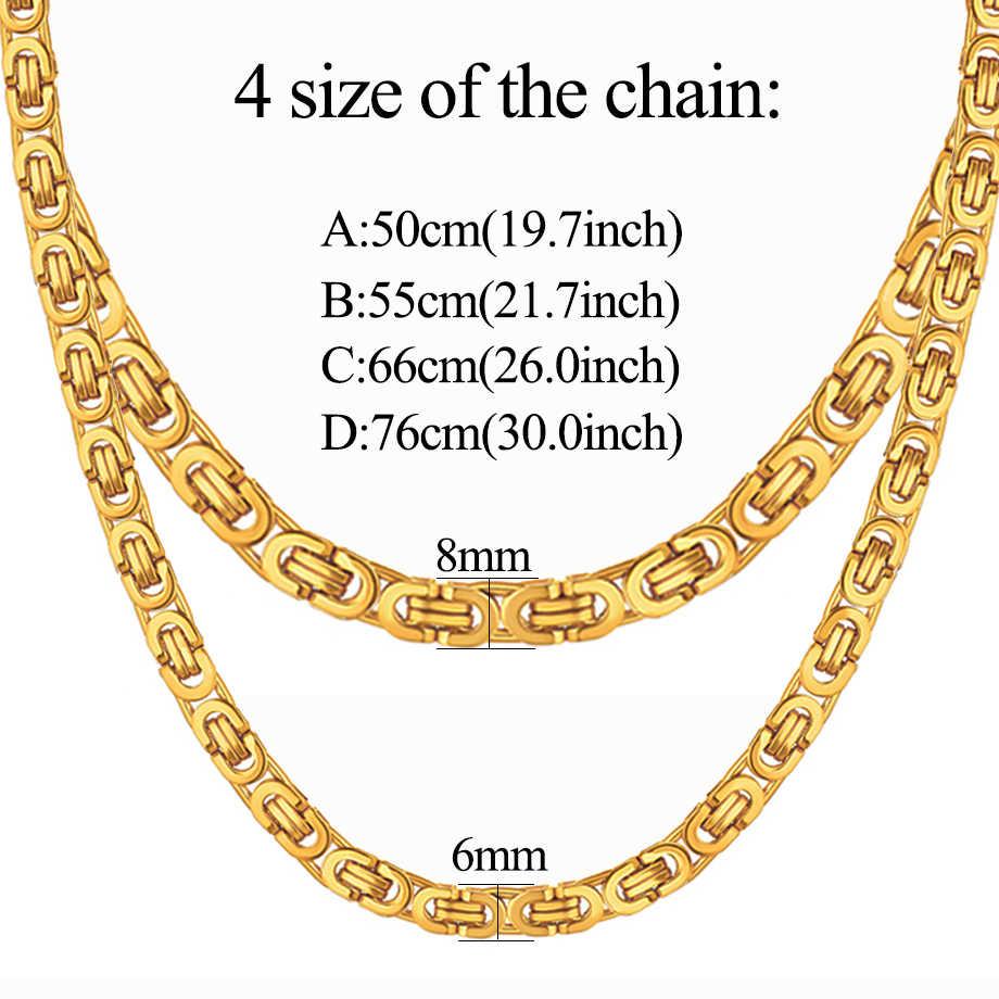 Moda luksusowe mężczyźni moda złoty łańcuch naszyjnik ze stali nierdzewnej bizantyjski łańcuchy ulicy Hip Hop biżuteria