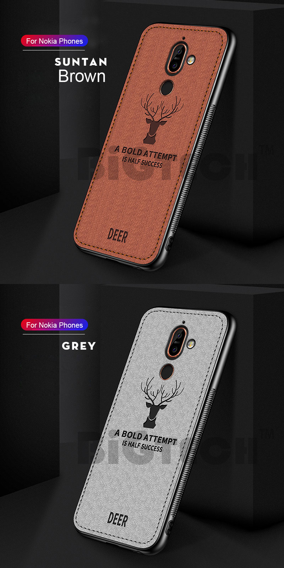 DEER Patterned Classic Retro Cloth Cases for Nokia 7 Plus x7 x6 x5 8 Sirocco Case Soft Back Cover For Nokia X7 X6 X5 Shell Coque