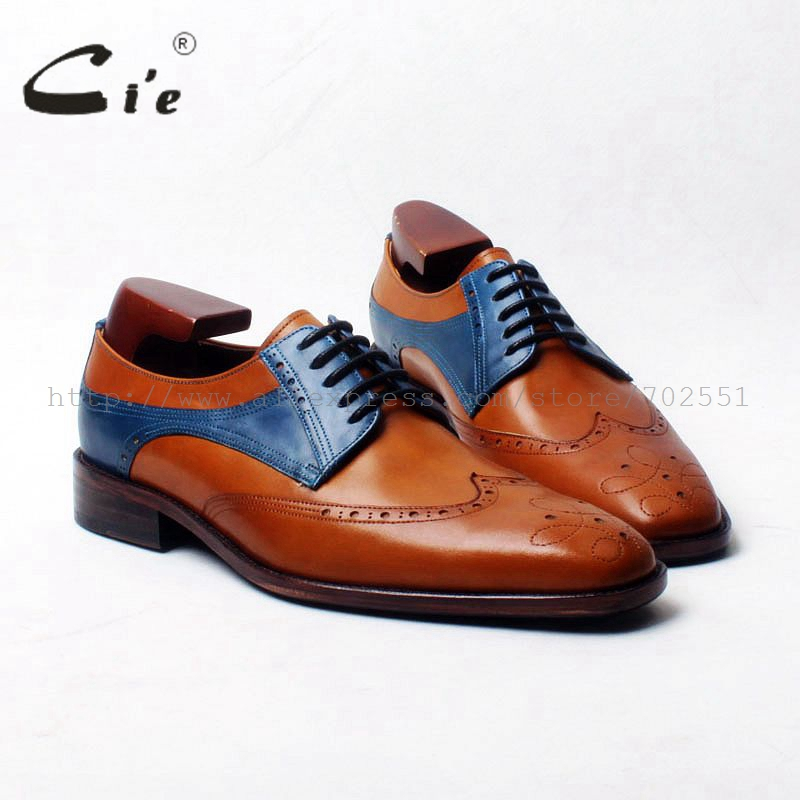 cie square toe full brogues medallion 100%pure genuine calf leather outsole breathable men derby handmade leather men shoe D117 cie square toe plain handmade men s lacing derby 100