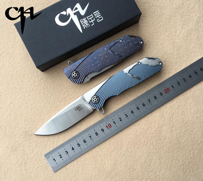 NEW CH3501 Flipper olding knife AUS-10 Blade ball bearings TC4 Titanium handle camping hunting pocket fruit Knives EDC tools 4pcs new for ball uff bes m18mg noc80b s04g
