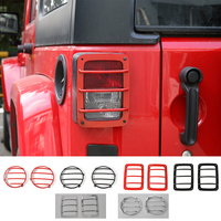 New Style Car Exterior Accessories Tail Light Cover Lamp Hoods Parts For Jeep Wrangler 2007