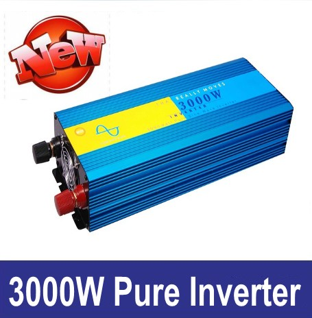 Pure Sin Tonn Inverter 3000W pure sine wave inverter dc 12V to ac 220V Pure Sine Wave Power Inverter,6000w Peak power inverter red sin w edp spr