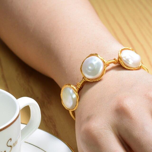 Купить женские жемчужные браслеты барокко glseevo подарочные bileklik картинки цена