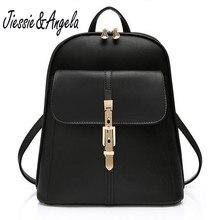 Jiessie & Angela Лидер продаж женские кожаные рюкзаки сумка для женщин школьная сумка для девочек-подростков туристические рюкзаки Mochila