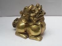 Queimador de incenso de bronze chinês da decoração da casa dos ofícios do metal  queimador de incenso dourado do leão