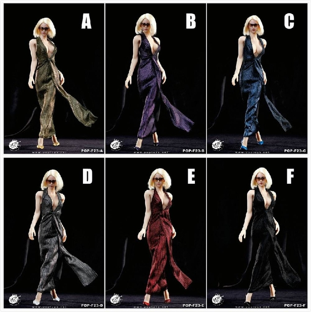 """1/6 scale figure doll clothes for 12"""" Action figure doll accessories,Doll Female Sexy dress with shoes.not include doll 16B2446"""