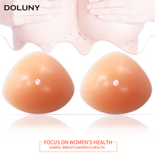 Silicone Breast Form Artificial Fake Protheses Real Soft touch feeling 500g Triangle Chest D30