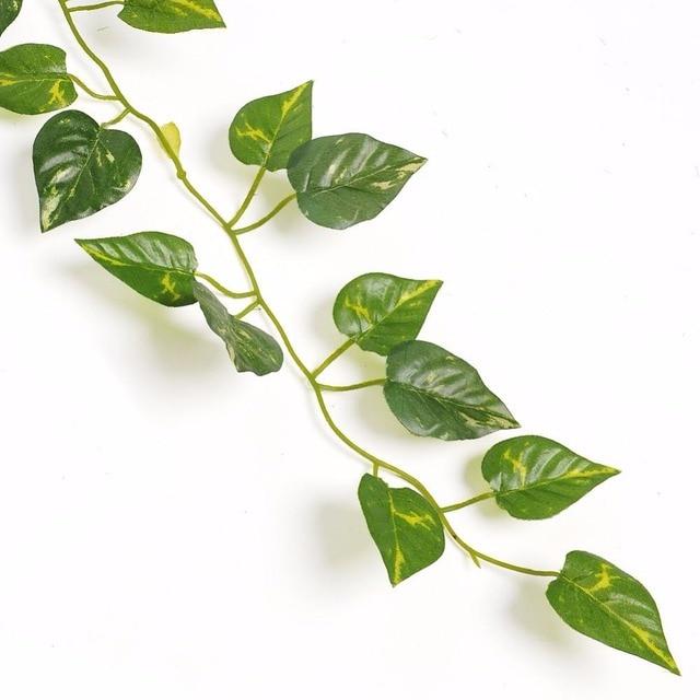 2 м искусственные листья гирлянды завод искусственная Виноградная лоза Листва Цветы Пластиковые поддельные ротанга Evergreen дома Свадебные Casamento украшения