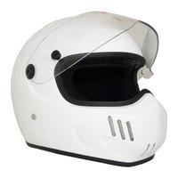 Vcoros FiberGlass motocycle helmet Retro Full Fcae Man Woman helmet scooter with Clear visor motobike helmet casco moto