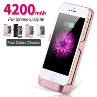 New Portable 4200mAh Power Bank Case Phone External Battery Pack Backup Charger Case For IPhone 5