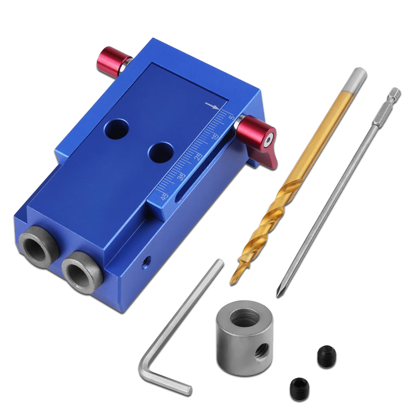 Woodworking Puncher Drill Bits Set Portable Pocket Slant Hole Jig Aluminum Alloy Oblique Hole Wood Drilling Home DIY Step Drill манеж 90 2x97 4см geuther lucilee натуральный 07