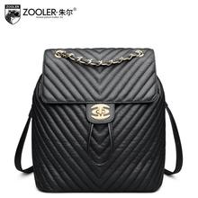 Zooler 2017 New superior cowhide women genuine leather backpack fashion Leisure women bag famous brands women backpack