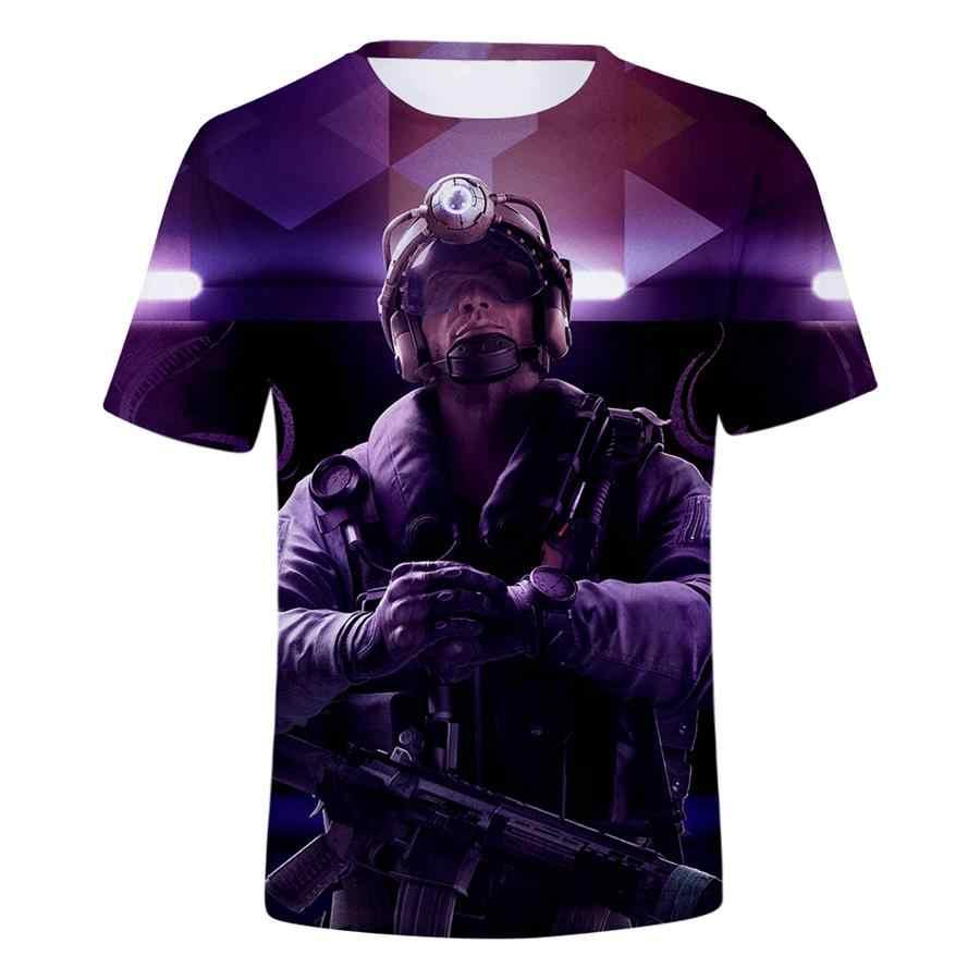 Новая футболка с 3D принтом «Радуга шесть осада» для мужчин и женщин в стиле хип-хоп, уличная футболка для мальчиков, Готическая футболка Modis 2019, одежда camisas