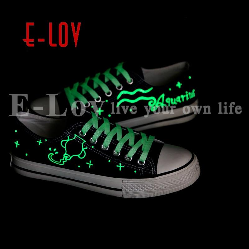 Zapato Acuario Zapatos yd209l Diseño Lov Mujeres Planos Regalos Led Oxford Luminoso Lona Ocasionales De 00000 San Horóscopo Graffiti Valentín IxPfYqIw