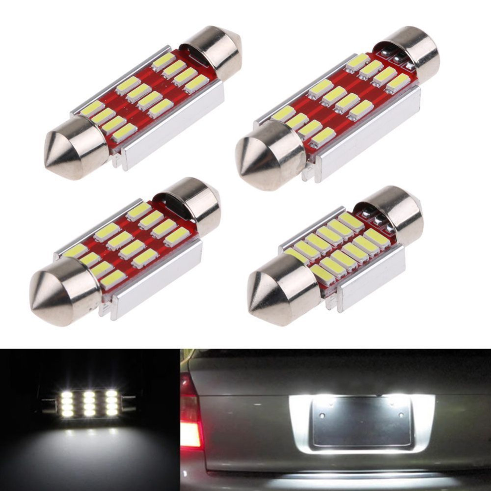 Back To Search Resultslights & Lighting Obedient 10pcs/lot 4014 12smd 31/36/39/41mm Led Light Smd Canbus Dome Car Plate Interior Lamp Bulbs Bz