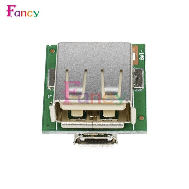 2 pièces 5V Module de puissance pas à pas Lithium batterie charge Protection conseil Boost convertisseur LED affichage USB pour bricolage chargeur 134N3P