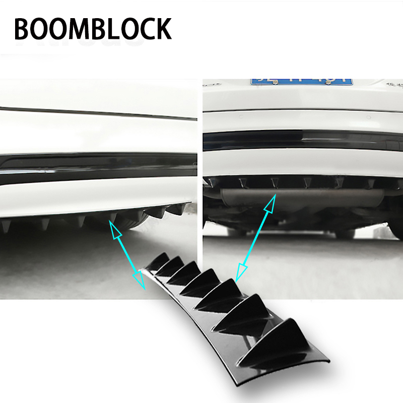 BOOMBLOCK Car Rear Bumper 3D Cool Shark Stickers For Mercedes W204 W210 AMG Benz Bmw E36 E90 E60 Fiat 500 Volvo S80