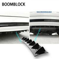 BOOMBLOCK Car Rear Bumper 3D Cool Shark Stickers For Mercedes W204 W210 AMG Benz Bmw E36 E90 E60 Fiat 500 Volvo S80