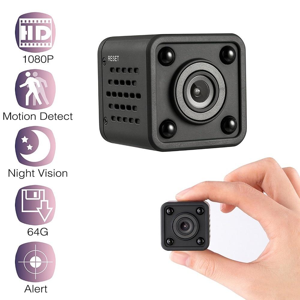 מיני WiFi מצלמה 1080 P HD השמעה מרחוק וידאו קטן מיקרו מצלמת זיהוי תנועת ראיית לילה בית צג 64G מיני מצלמת וידאו