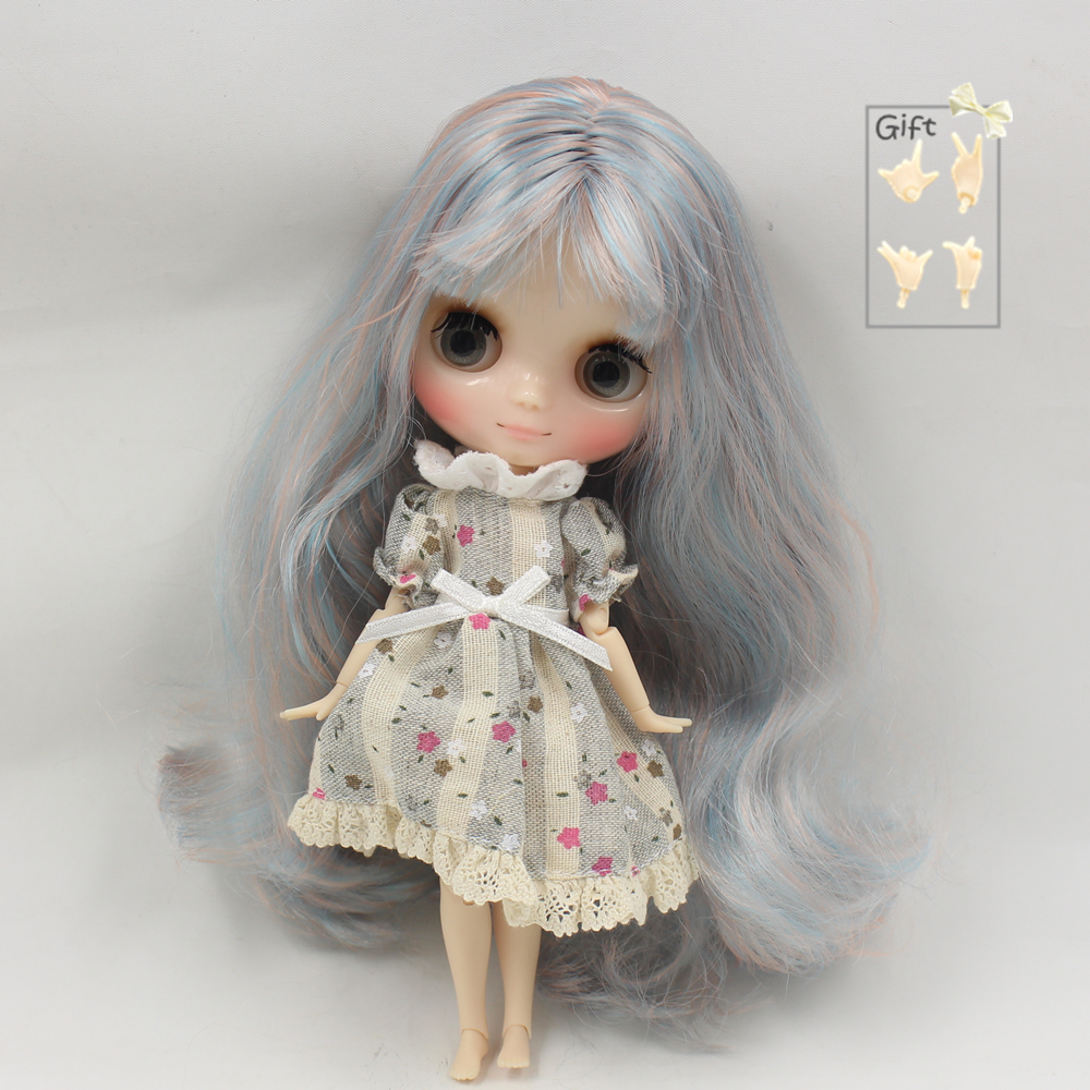 Dolls Helpful Fortune Days Nude Factory Middie Blyth Doll Series No.210bl6227/2023 Pink Mix Blue Hair With Bangs Transparent Skin Neo