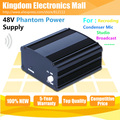 Free Shipping Top Quality 48 V Phantom Power Supply For Wired Dynamic Computer Mic Broadcasting Recording Condenser Microphone