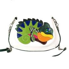 23×18 CM Italienische Mode Kreative Neue Shell Chameleon Schulter Messenger Bags Getäfelten Farben Frauen Kleine Tasche A2595 ~ 3