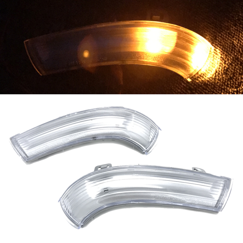 JEAZEA New 2pcs Left + Right Door Mirror Turn Signal Light Lamp for VW JETTA GOLF GTI MK5 PASSAT Skoda SEAT 1K0949101 1K0949102 abs mirror cover chrome matt painted cap side mirror housings for volkswagen jetta golf 5 passat b6 ct