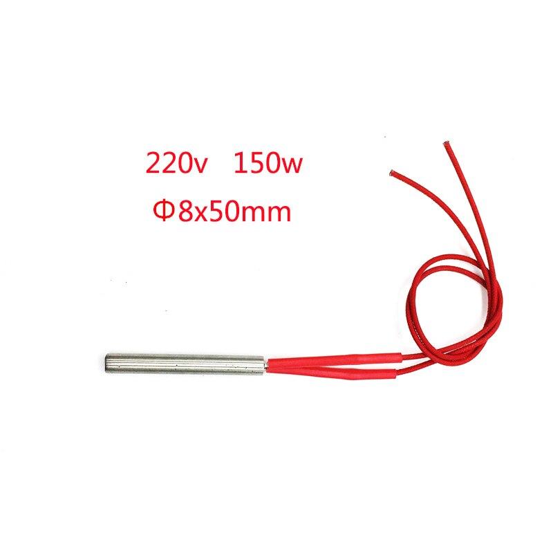 ⑤10 unids de 8x50mm 150 W cartucho calentador elemento tubular ...