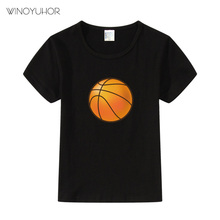 Boys Short Sleeve T Shirts For Children Basketball T-shirt Cotton 2-11 Year Kids Clothing Baby Girls Tops Tees Clothes t shirts frutto rosso for girls and boys sm117k021 top kids t shirt baby clothing tops children clothes