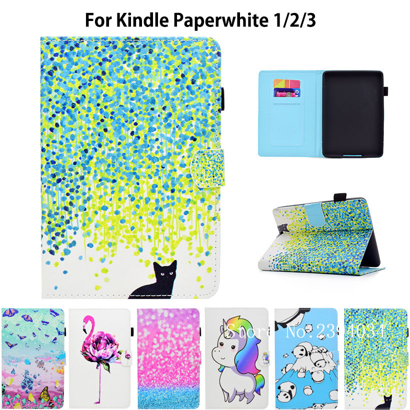 Smart Kindle Paperwhite Case PU Leather Cover Auto Sleep/Wake for Amazon Kindle Paperwhite 6 inch 1 2 3 6th (2012 2013 2015 ) mdfundas flower animal pattern cover for amazon kindle paperwhite 1 2 3 case flip stand leather shell for kindle paperwhite 3