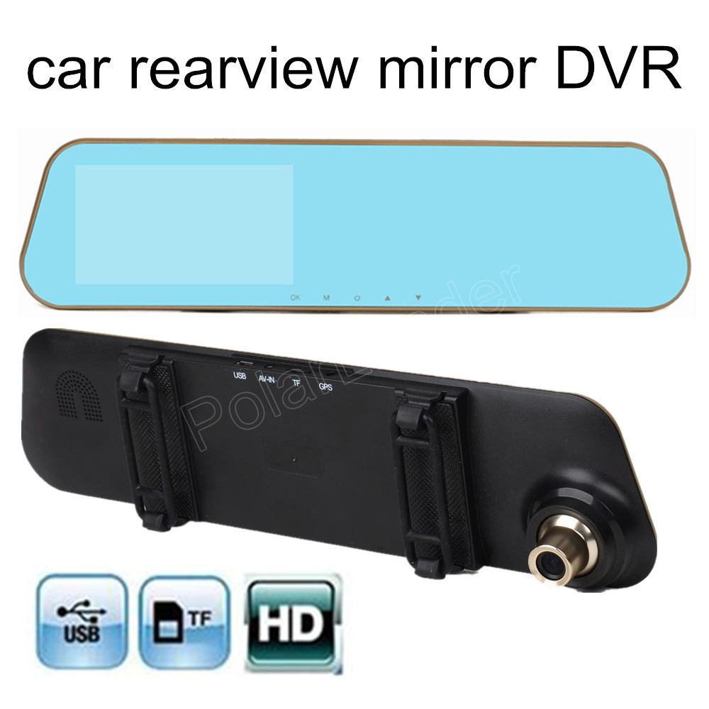 high quality 4.3 inch car rearview mirror HD DVR rear view mirror 170 degree wide viewing angle dash cam