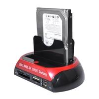 2 IDE 1 SATA USB3.0 Dual External Hard Disk Drive Docking Station TF SD HUB Reader For 2.5 inch 3.5 inch SSD
