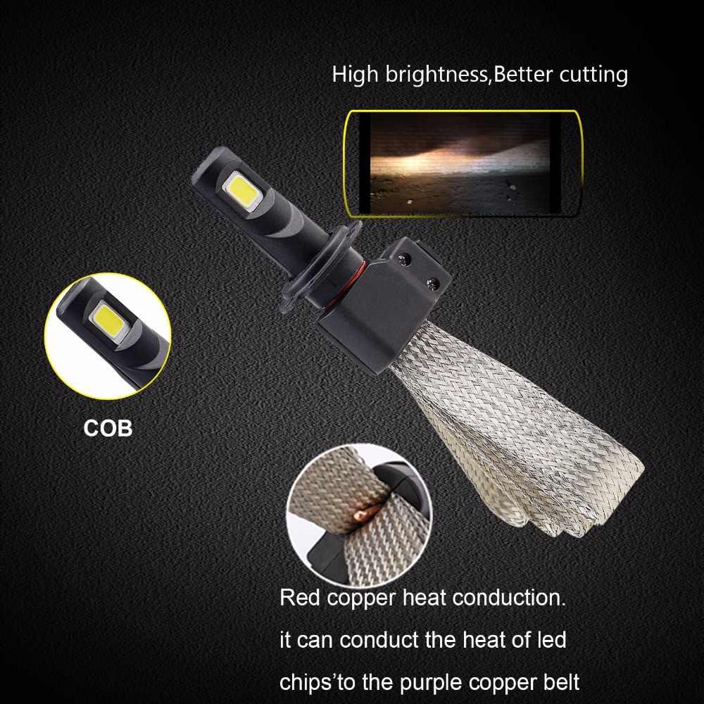 H4 H7 LED Car Headlight Bulbs H11 H1 9005 9006 HB2 Hi-Lo Beam 2PCS 12v 72W 1 Pair 8000lm 6000K Led Light COB Chips Auto Headlamp
